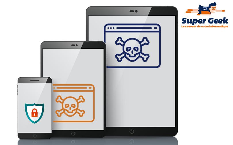 Menaces d'infection sur tablettes et smartphones
