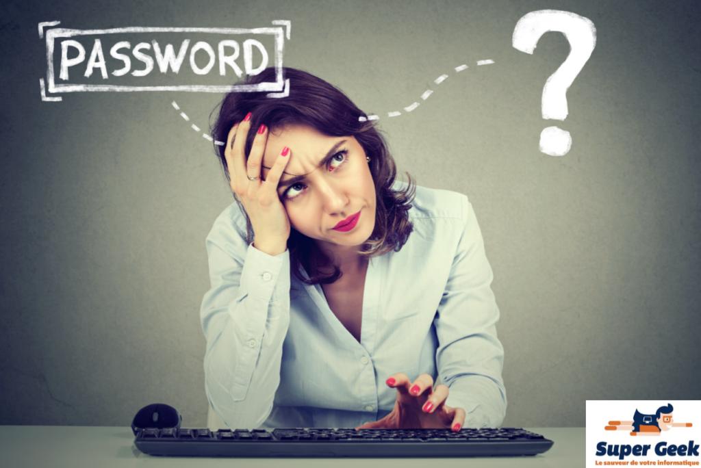 Femme qui a oublié son mot de passe