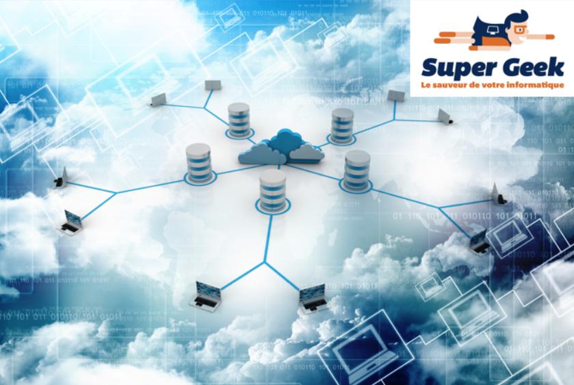 Schéma d'un réseau dans le cloud
