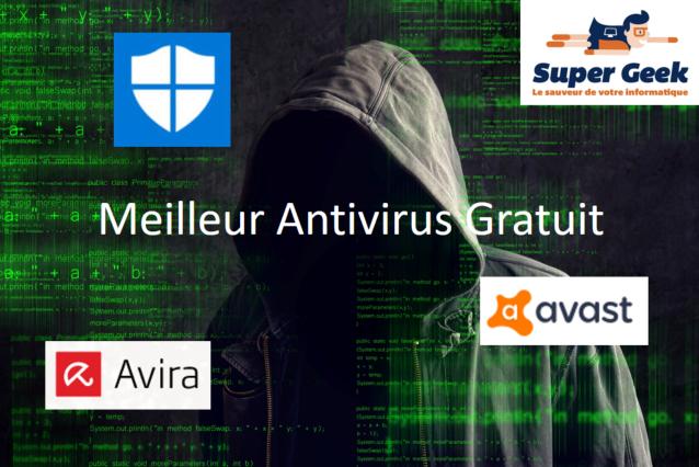 Personne capuchée derrière logos antivirus