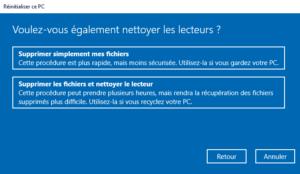 Comment réinitialiser mon PC - Comment nettoyer