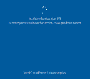 Installation Windows 10 - Installation des mises à jour