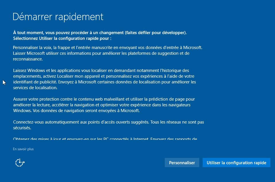 Installer Windows 10 - Démarrer rapidement
