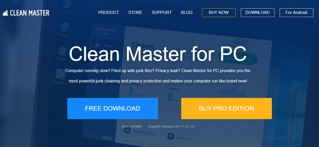 Clean Master - Nettoyer son pc